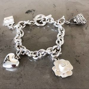 Chain Charm Bracelet with Four Charms